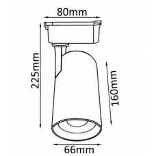Светильник на штанге Crystal Lux CLT 0.31 006 CLT 0.31 006 20W WH
