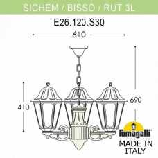 Подвесной светильник Fumagalli Rut E26.120.S30.WYF1R