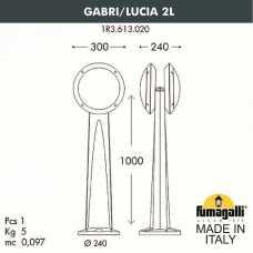 Наземный высокий светильник Fumagalli Lucia 1R3.613.020.AYE27