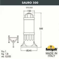 Наземный низкий светильник Fumagalli Sauro D15.553.000.WYE27
