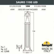 Наземный высокий светильник Fumagalli Sauro D15.555.000.WXD1L