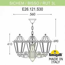 Подвесной светильник Fumagalli Rut E26.120.S30.AYF1R