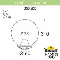 Плафон полимерный Fumagalli Globe 300 G30.B30.000.BZE27