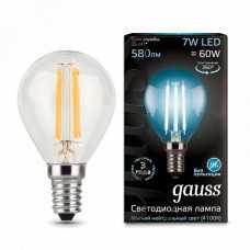 Лампа светодиодная Gauss 1058 E14 7Вт 4100K 105801207