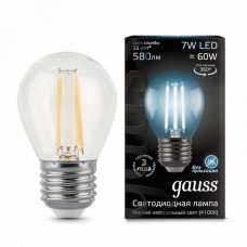 Лампа светодиодная Gauss 1058 E27 7Вт 4100K 105802207
