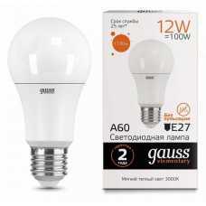 Лампа светодиодная Gauss  E27,E27 12Вт 3000K 23212