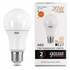 Лампа светодиодная Gauss  E27 20Вт 3000K 23219