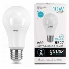 Лампа светодиодная Gauss  E27 10Вт 4100K 23220
