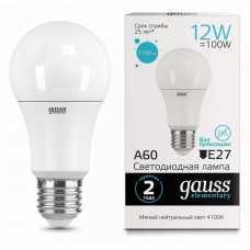 Лампа светодиодная Gauss  E27 12Вт 4100K 23222