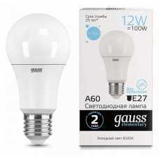 Лампа светодиодная Gauss  E27 12Вт 6500K 23232
