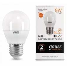 Лампа светодиодная Gauss  E27 8Вт 3000K 53218