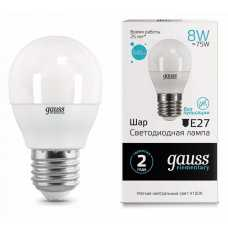 Лампа светодиодная Gauss  E27 8Вт 4100K 53228