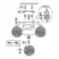 Потолочная люстра Globo Enigma 56620-3