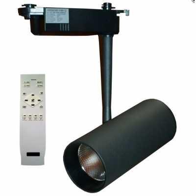 Светильник светодиодный трековый  DLP-20T BK 20W 3000-6000K с пультом