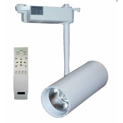 Светильник светодиодный трековый  DLP-20T WH 20W 3000-6000K с пультом
