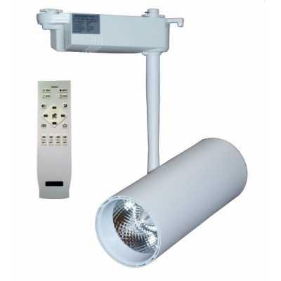 Светильник светодиодный трековый  DLP-30T WH 30W 3000-6000K с пультом