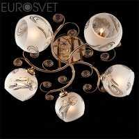 Люстра Потолочная EUROSVET Делано 30031/5 золото