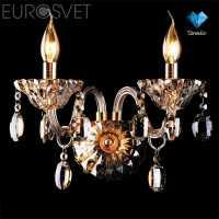 Бра EUROSVET Кайвен 3162/2 золото/тонированный хрусталь Strotskis