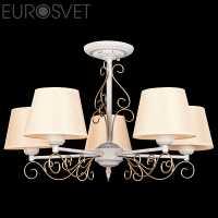 Люстра Потолочная EUROSVET 70012 70012/5 белый с золотом