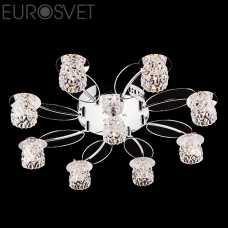 Люстра Потолочная EUROSVET 80011 80011/9 хром/синий+красный+фиолетовый